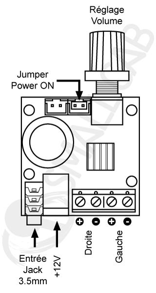 Mini stereo audio amplifier Diagram