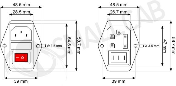 module d u0026 39 entr u00e9e - iec 320  smallcab