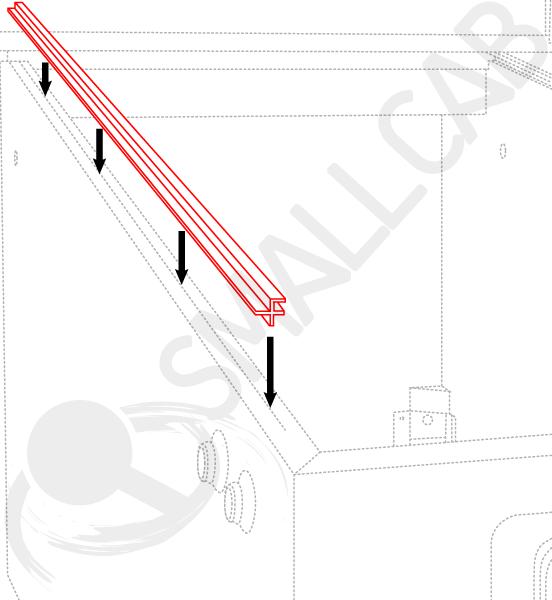 Diagram Side rail - Plastic guide
