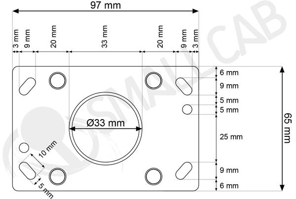 plaque de montage plate se  ls-32    ls-40   smallcab