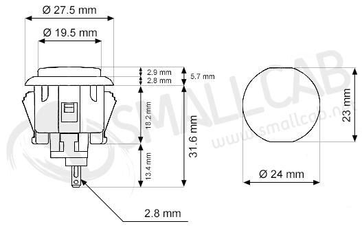 sanwa obsc-24 - rouge  smallcab