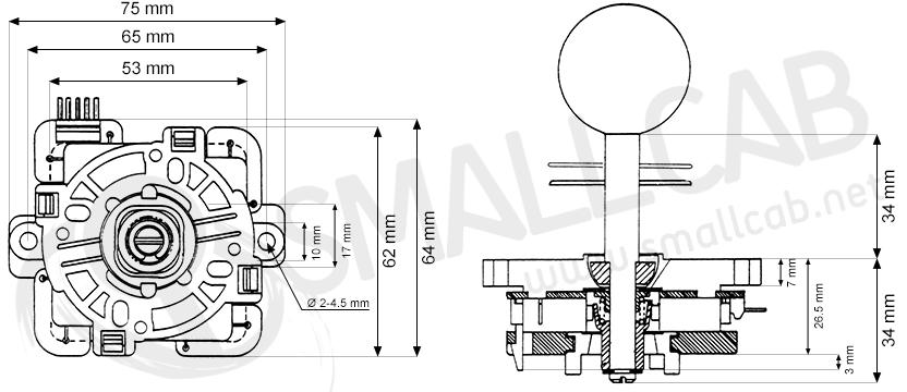 joystick sanwa jlf-tprg-8ayt  smallcab