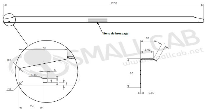 Diagram side rail Standard Bally Williams type WPC