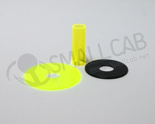 Sanwa JLF-CD Shaft Cover jaune transparente