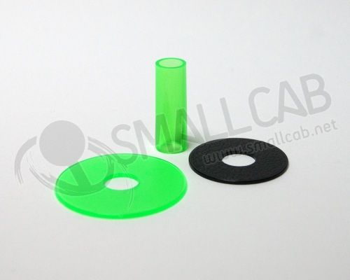Sanwa JLF-CD Shaft Cover vert transparente