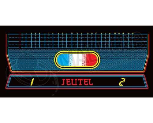 Overlay Blue / white / red 20-inch panel JEUTEL