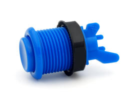 Concave blue short arcade button - IL PSL-H
