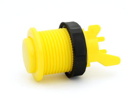 Short arcade button bright yellow convex - IL PSL-CV