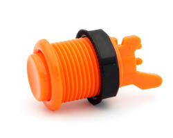 Concave orange short arcade button - IL PSL-H