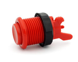Concave red short arcade button - IL PSL-H