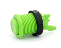 Concave green apple short arcade button - IL PSL-H