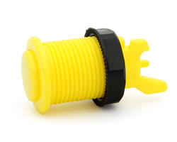 Long arcade button bright yellow convex - IL PSL-L-CV