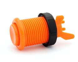 Concave long orange arcade button
