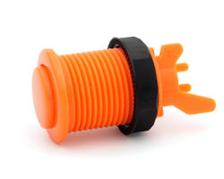 Bouton arcade long orange convexe