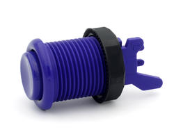 Concave long purple arcade button - IL PSL-L