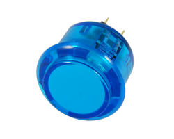 Bouton clipsable translucide bleu 30mm
