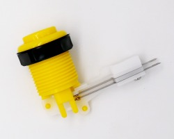 Concave yellow short slat knob