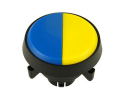 Dual button - yellow blue 29 mm screw