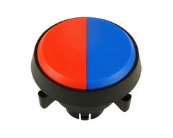 Bouton double - rouge bleu 29mm vissable