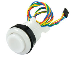 Button bright RGB 28mm screwn