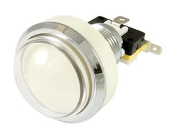 Bouton lumineux convexe blanc 46mm vissable