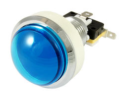 Convex blue light button 46mm screw