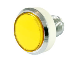 Flat yellow light button 46mm screw