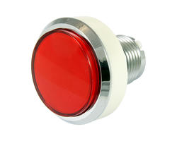 Flat red light button 46mm screw
