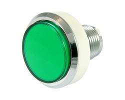 Flat green light button 46mm screw