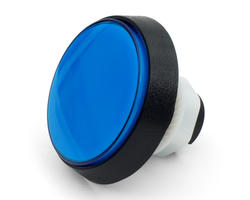 Flat blue light button 60mm screw