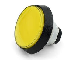 Flat yellow light button 60mm screw