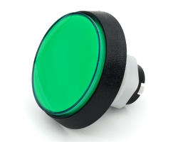 Flat green light button 60mm screw
