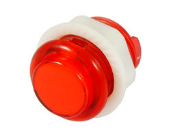 Red illuminated button - 24mm AIO