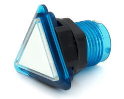 Triangular light button - white and blue