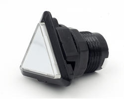 Triangular light button - white and black