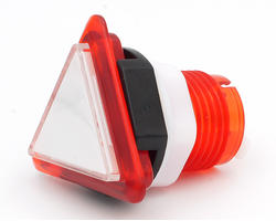 Triangular light button - white and red