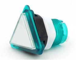 Triangular light button - white and green