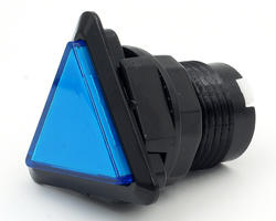 Triangular light button - blue and black
