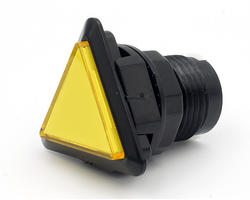 Triangular light button - yellow and black