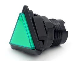 Triangular light button - green and black