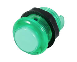 Green illuminated button - 28mm AIO
