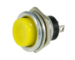 Service button - 16mm yellow