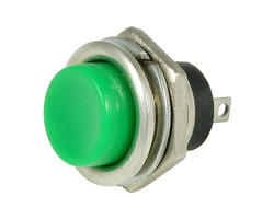 Service button - 16mm green