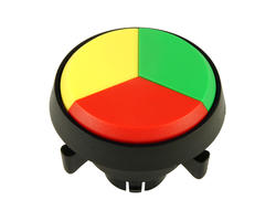 Triple button - red yellow green 29 mm screw