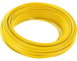 Yellow cable - 0.75mm by 1m
