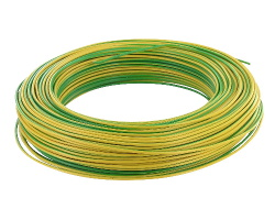 Yellow-green cable - 1mm by 1m
