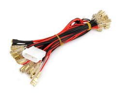 Power cable molex to illuminated buttons
