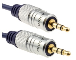 Cable Jack 3.5mm OFC stereo male - male 1m