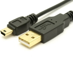 Cable USB A / Mini B 1m