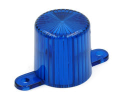 Blue flasher dome with screw tabs